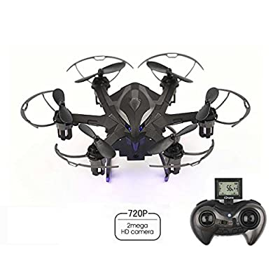 CrossRace RC Quadcopter 4CH 6-Axis Gyroscope 2.4 GHz RC Drone with Rc Hexacopter with 720P HD camera LED Rechargeable(4G SD Card & SD Card Reader Included)