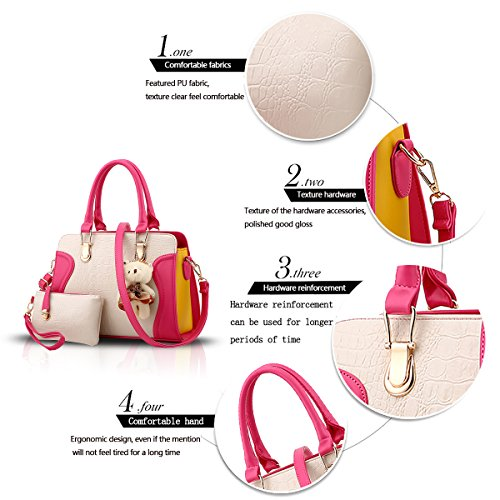 Sunas 2017 il nuovo modello del coccodrillo della borsa delle signore ha impresso il pacchetto diagonale del sacchetto di spalla dell'unità di elaborazione di modo del sacchetto femminile Rose rosso + bianco