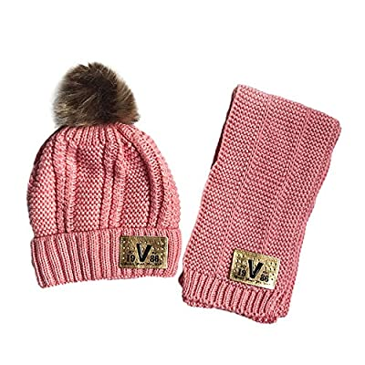 CLOOM Baby Mütze Schal Jungen Mädchen Hüte & Mützen Niedlich Winter Baby Kinder Mädchen Jungen Warm Woll Haube Mützen Hüte Kinder Hasenohren Baby Warme Mütze Ohrenschützer