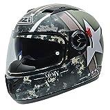 NZI Eurus Graphics Motorradhelm, Camouflage/Dekoration, 60