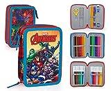 Marvel The Avengers 63234 Federtasche, Federmäppchen, 3-stöckig gefüllt 44 Teilen