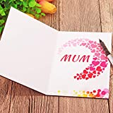 Creawoo Wood Mothers Day Card Mum Greeting Cards Wooden Card for Mothers Day Gifts Best Mum Ever Gift Cards