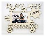 Schlummerlicht24 Licht & Deko Mama Geschenke Zum Geburtstag I Heldin des Alltags Superheldin I Holz Bilderrahmen 10 x 15 cm