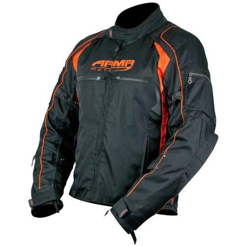 ARMR Moto Ukon Motorcycle Jacket Black/Orange 4XL Air Jacket Liner