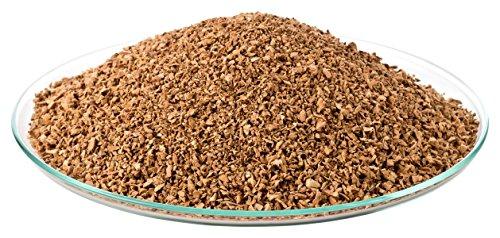 1 Liter Korkgranulat, FEIN (1-2 mm) (Kork-Substrat, Kork-Schrot) für Terrarien (Reptilien), Terrariensubstrat (Späne, Einstreu, Bodengrund) oder Dekoration/Modellbau