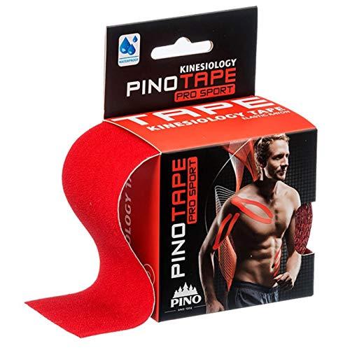 Pinotape Pro Sport kinesiologisches Tape verschiedene Farben und Designs 5 cm x 5 m hautfreundlich (rot)