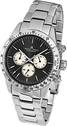 Jacques Lemans Nostalgie N-1557C Gents Metal Bracelet Watch
