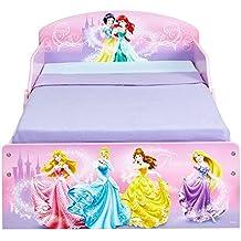 Princesas Disney 516DSN - Cama infantil con espacio de almacenamiento debajo de la cama, color rosa