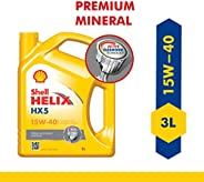 Shell Helix HX5 15W-40 API SN Premium Mineral Engine Oil for Diesel & Petrol Cars (