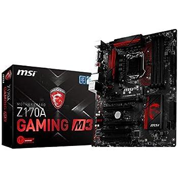 MSI Z170A Gaming M3 DDR4 - LGA1151-6th Generation Motherboard (DDR4 3600+ OC, USB 3.1, Intel Z170 Chipset)