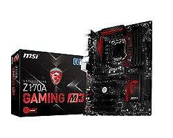 MSI Z170A Gaming M3 DDR4 - LGA1151 - 6th Generation MotherBoard (DDR4 3600+ OC, USB 3.1, Intel Z170 Chipset)