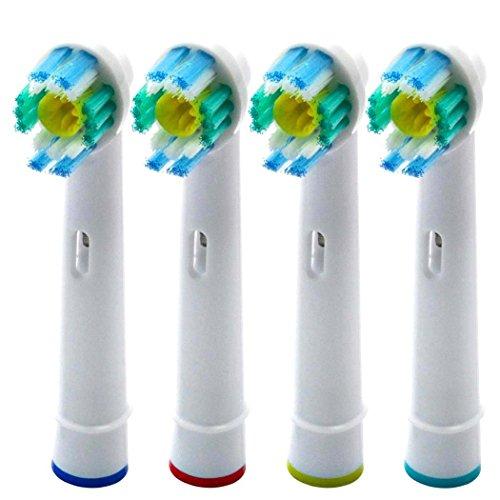 UCA® EB18-4 - Set di 4 Testine di ricambio per spazzolini Elettrici Compatibili con Braun Oral B 3D White/PRO Bright