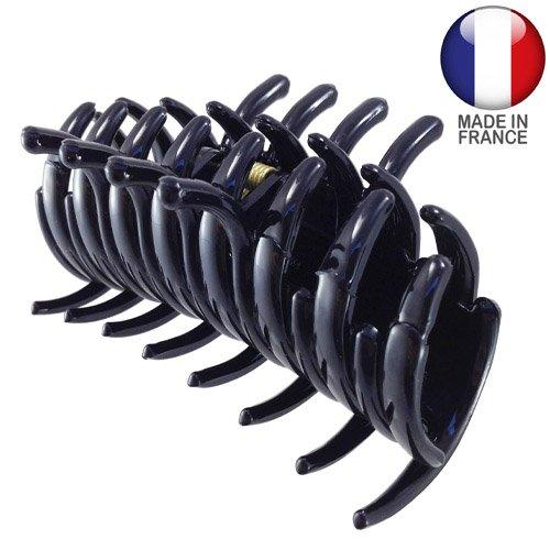 294 – 001 – Pince pour cheveux français tubulaire cm 9 Noir – Pinces pour Cheveux