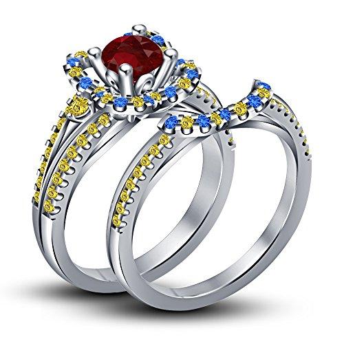 Vorra Fashion Damen - FASHIONRING 925 Sterling-Silber  Sterling-Silber 925     Verschiedene Edelsteine (Snow White Princess Fashion Set)