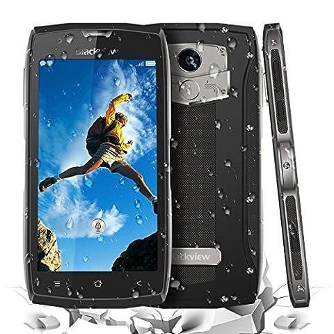 Téléphones portables sans carte SIM Blackview BV7000 Pro 5 pouces Gorilla Glass FHD IP68 Téléphones intelligents à empreintes digitales déverrouillés - 1920 * Résolution 1080 4 Go de RAM + 64 Go de caméras ROM 13 MP et 8 MP Android 6.0 Imperméable antichoc anti-poussière MT6750T Octa Core Dual SIM Double veille Extérieur Tough Smartphone GPS - Gris