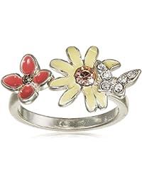 Pilgrim Jewelry Damen-Ring Messing aus der Serie Schmetterling romance versilbert,pastell 1.2 cm Gr. 53 (16.9) 221326904