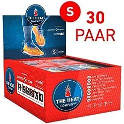 THE HEAT COMPANY Semelles Chauffantes | EXTRA CHAUD | 8 heures de chaleur | chaleur immédiate | autochauffante | 100% naturel | SMALL Taille: 36-38 | 30 paires