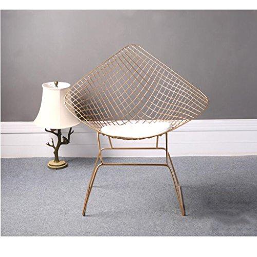 YIDIAN Moderner Hohler Drahtstuhl kreativer Schmiedeeisen-Schemel-Einfacher Designer-Stuhl (Gold) 85CM * 55CM * 45CM