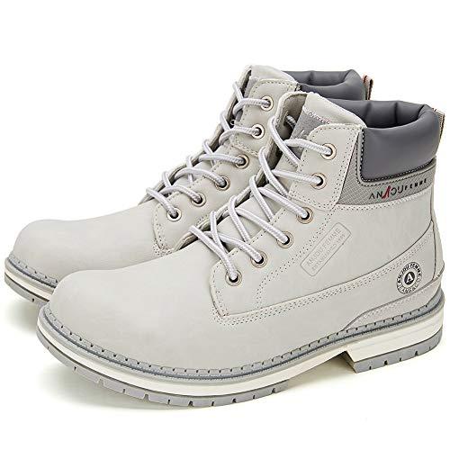 6ec11b908dd Botines Planos de Spring para Mujer - AnjouFemme Zapatos con Cordones para  Mujer