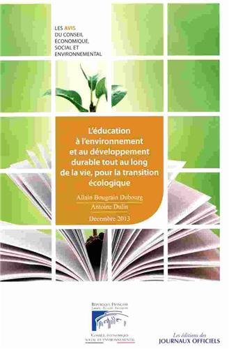 L'éducation à l'environnement par Conseil économique social et environnemental