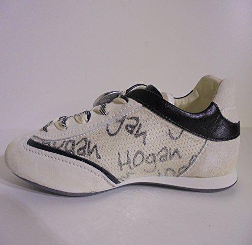 Con Paillettes Hogan Bianco Brancas Sapatilha Donna Ita Hogan Senhoras 37 n81zqW6PPx