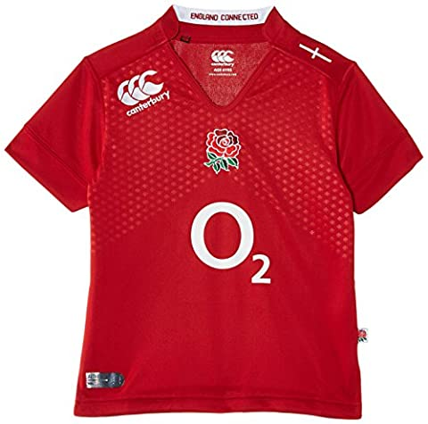 Canterbury Boy's England Alternate Pro Short Sleeve Rugby Jersey - Crimson Red, 14 Years