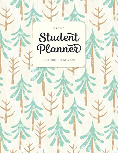 Pine Block (Dated Student Planner July 2019 - June 2020: High School or Middle School Planner with Subject Blocks - Watercolor Pine Trees (Diary & Organizers for Academic Year 2019-2020 - Cute, Band 122))