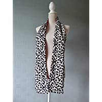 Dalmatian scarf/stole evil queen costume animal print scarf black and white spotted scarf