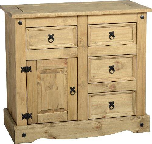 corona-table-buffet-1porte-4tiroirs-armoire-de-rangement-pin-massif-cir