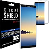 [Pack of 2] TECHGEAR® Samsung Galaxy Note 8 [ghostSHIELD Edition] Genuine Reinforced TPU Screen Protector Guard Covers with FULL Screen Coverage including Curved Screen Area [3D Curved Edges Protection]