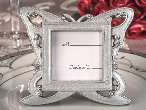 Disegno della farfalla elegante luogo d'argento carta