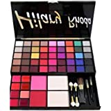 Hilary Rhoda Makeup Kit All In One Eye Shadow Blush Face Powder Lipstick Brushes Kit