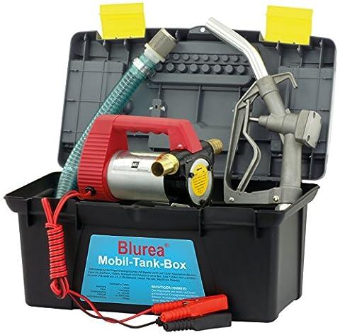 Blurea Mobile Petrol Station Box Diesel Pump 12V 40L/min. 230W, Max. 3 Bar, 2800RPM, Noise Protection Class IP5570dB