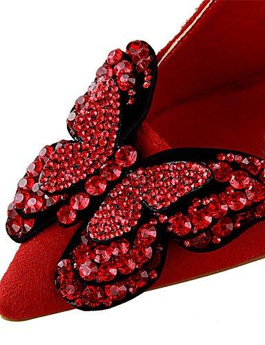WSS 2016 Chaussures Femme-Extérieure / Habillé-Noir / Jaune / Vert / Rose / Rouge / Gris / Orange / Bordeaux-Talon Aiguille-Talons-Talons-Laine orange-us5.5 / eu36 / uk3.5 / cn35