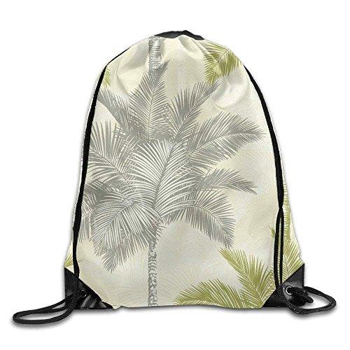 Arthouse Sophie Conran Fiji Palm Citrus Trees Print Shoulder Drawstring Bags Basic Drawstring Tote Cinch Sack Promotional Backpack Bag Cinchbag Conran White