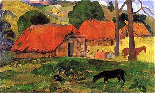 paul-gauguin-village-in-tahiti-fine-art-print-8636-x-6096-cm