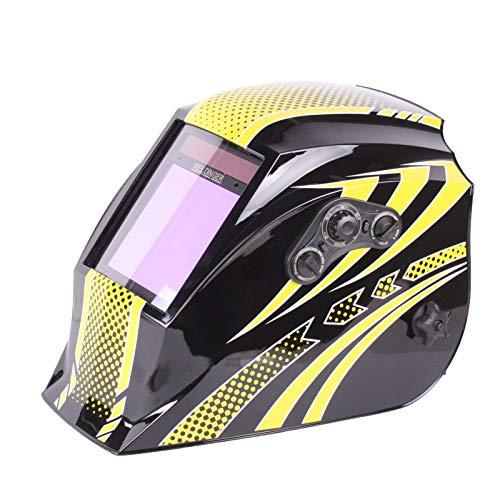 WELDINGER AH 450 pro Panorama Color Automatik-Schweißhelm (schwarz-gelb gestalteter Kopfschirm) -