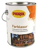 Pigrol Farblasur 2,5L nussbaum seidenglänzende Holzlasur für alle Hölzer im Außenbereich