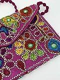 A1Sonic Quality for less, handgefertigte Damen-Banjara-Taschen, Falttasche, Handtasche mit Elefant bestickt, Clutch oder Geldbeutel mit Trageriemen