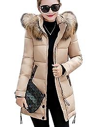 PengGeng Largo Abrigos De Mujer Invierno Elegantes Abrigo De Plumas Abajo Chaqueta con Bolsillo