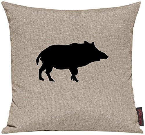"""Kissenhülle für Auserwählte! Sofakissen Tiere """"Dein lieblings Tier Wildschwein Schwein"""", Farbe taupe"""