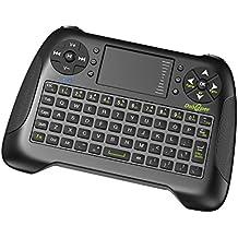 Dootoper inalámbrico Wireless Mini teclado con ratón touchpad / 10/76 metros de ámbito de teclas (2 llaves especiales) /2.4 GHz teclado adecuado para HTPC, Smart TV, Android TV Box, XBOX 360, PC, etc (Negro)