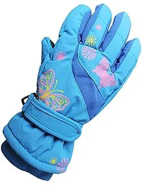 Eastlion 4-10 Jahre alte Schmetterling / Auto / Flugzeug Muster Kinder Skifahren Handschuhe Karikatur Draussen...