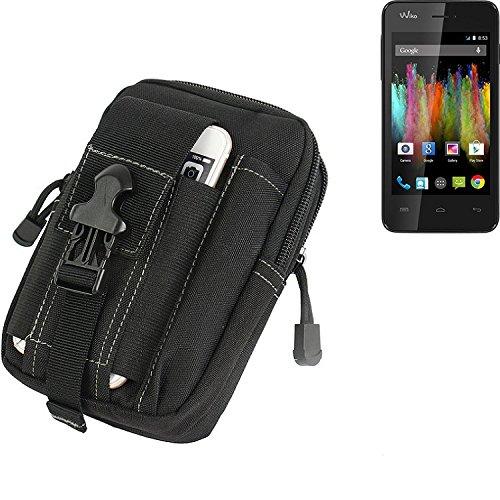 K-S-Trade Gürtel Tasche für Wiko Kite Gürteltasche Schutzhülle Handy Hülle Smartphone Outdoor Handyhülle schwarz Zusatzfächer