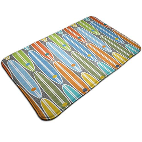 ghkfgkfgk Luxury Extra Thick Water Absorbent Rainbow Surfboards Doormat Non-Slip Antibacterial Bathroom Rug Perfect for Bedroom Bathroom Livingroom