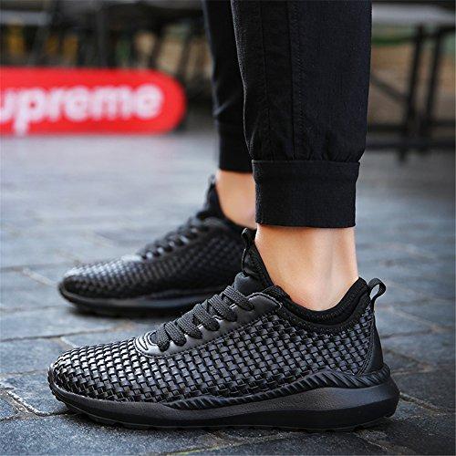 UBFen-Uomo-Donna-Scarpe-da-Sportive-Corsa-Running-Ginnastica-Sport-e-Tempo-Libero-Sneakers-Casual-Tessuti-a-mano-Bianco-Nero-36-47
