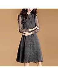 Women'S Robe En Été, L'Europe Et Les États - Unis Taille Women'S Neuf Manches Des Coutures Mousseline