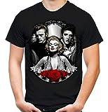Vintage Legends Männer und Herren T-Shirt | Marylin Monroe James Dean Elvis Presley (L, Schwarz)