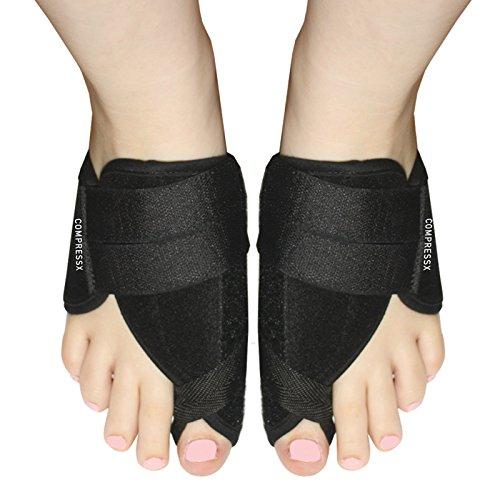 Alluce valgo correttore di borsite - un paio di regolabile grande dito del piede raddrizzatore e ortopedico sollievo dal dolore stecca - ore notturne borsite aiutare per uomini e donne (unisex)