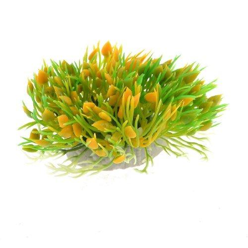 DealMux Kunststoff-Herz-Form-Aquarium Kopf Pflanze, 10,5cm W